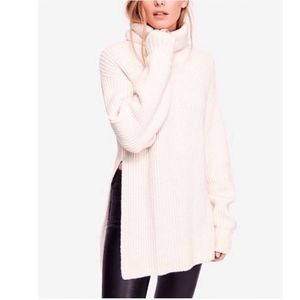 NWT Free People Chunky Knit Eleven Sweater Cream